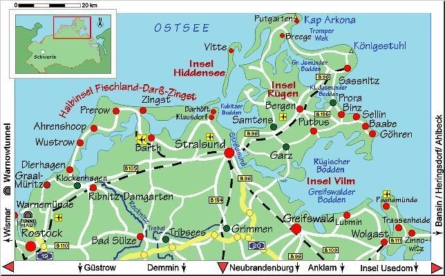 graal müritz karte Karte Graal Müritz Ostsee   hanzeontwerpfabriek